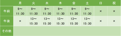 神経科土田病院の診療時間