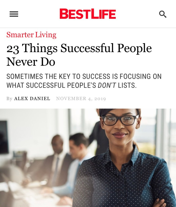 Things successful people never do