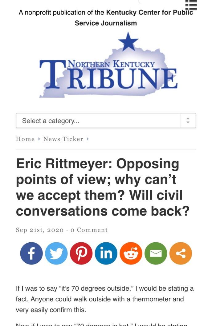 Opposing political views