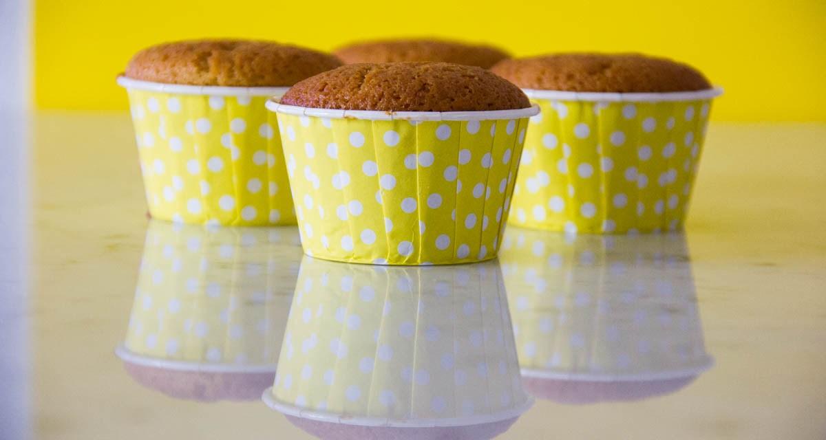 Cupcake con farina di Kamut e miele senza lattosio