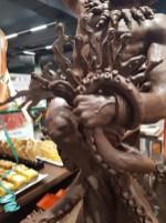Dettaglio Scultura di cioccolato di Alessandro Comaschi