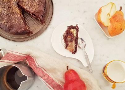 torta-pere-cioccolato-mandorle