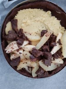Ricetta originale della Torta pere, cioccolato e mandorle