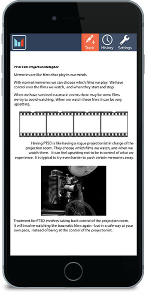 PTSD Film Projection Metaphor