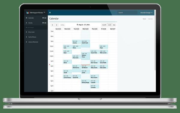 Mentegram Notes Calendar