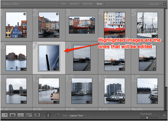 Lightroom select single image annotated