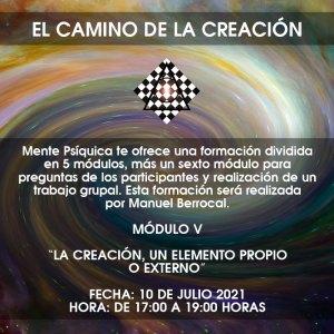 Formación El camino de la creación - Módulo V @ Mente Psíquica, entrenamiento para médiums y psíquicos