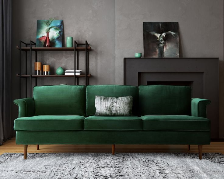 20 Ideas Of Green Sofa Chairs