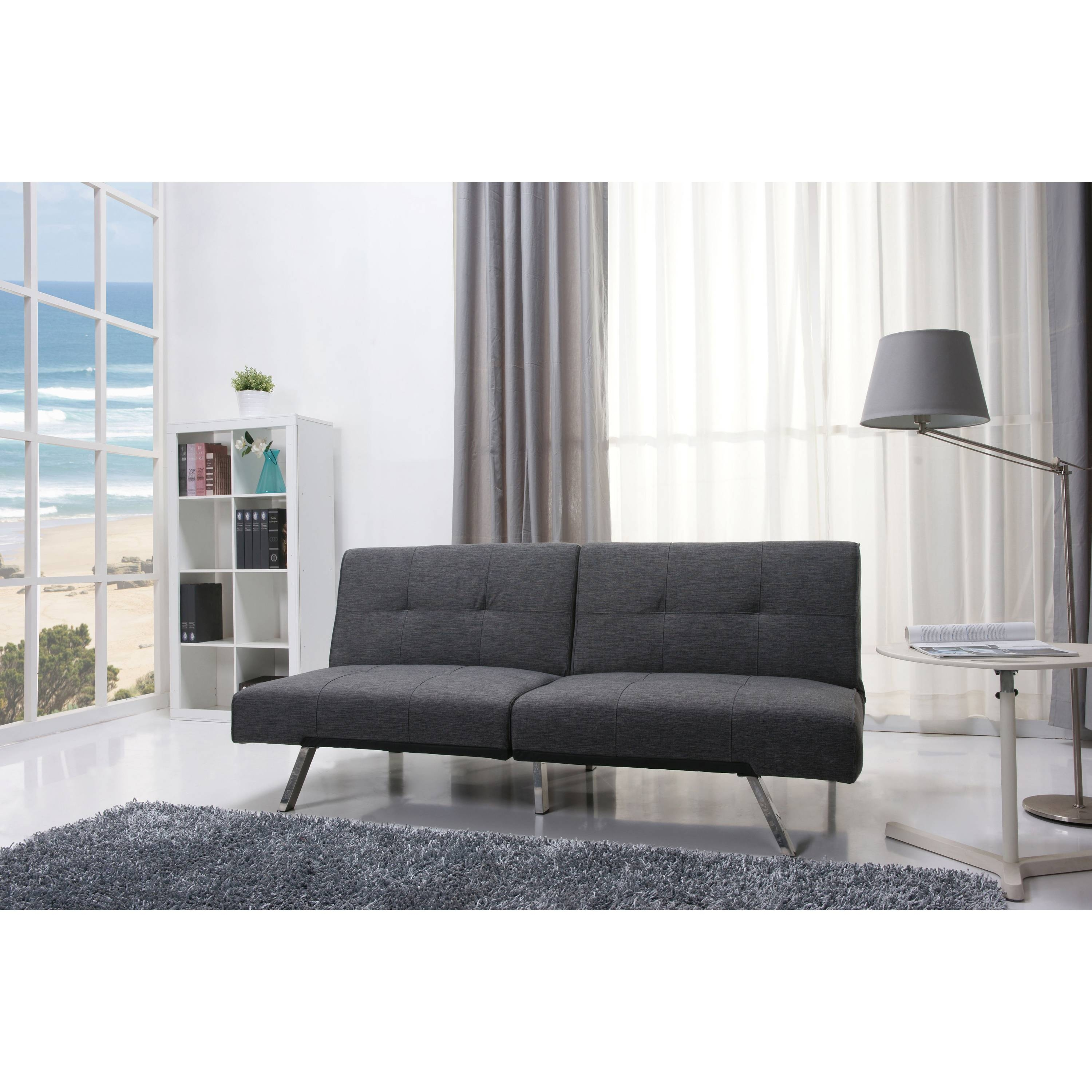 mainstays contempo futon sofa bed multiple colors color charcoal mainstays contempo futon sofa bed review   functionalities    rh   functionalities