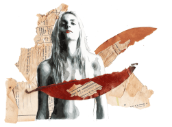 Take another drag, turn me to ashes (Portrait of Andrej Pejic)