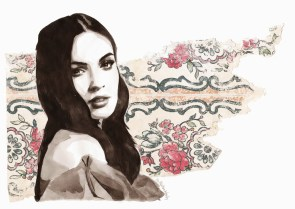 A flower that's withering (Portrait of Megan Fox)