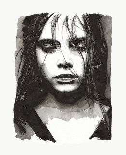 """""""Don't turn this all to ashes"""" (Portrait of cara delevingne)"""