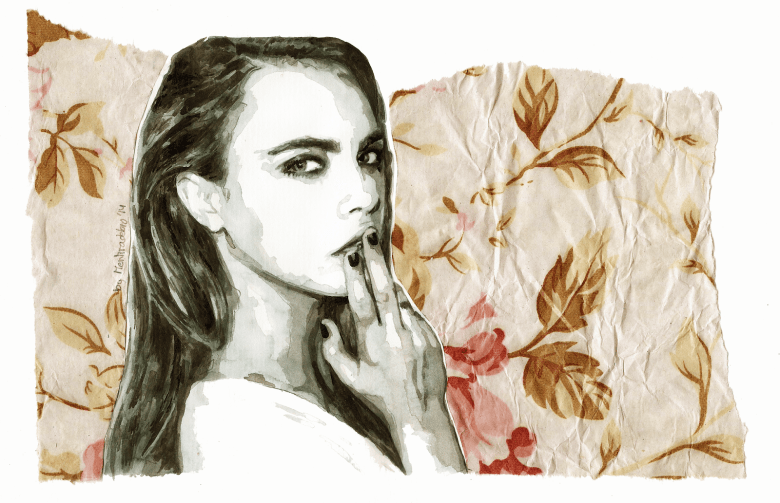 You threw me away today (Portrait of Cara Delevingne)