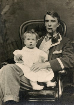 edward with merfyn 1900