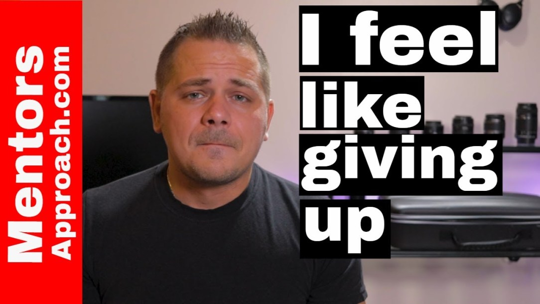 I Feel Like Giving Up. The How to Series