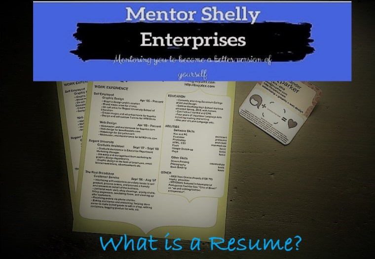 what is a resume - audio graphic