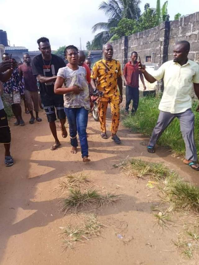 Yesterday, a daughter reportedly slaughtered her biological mother at Urua Anan Road, Ikot Ekpene, Akwa Ibom State (Photos)