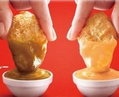 マックのナゲット フルーツカレーソース クリーミーチーズソース