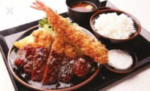とんいち「海老とん定食」1123円