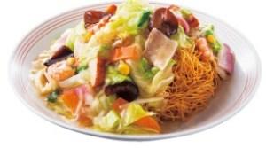 リンガーハット「野菜たっぷり皿うどん」