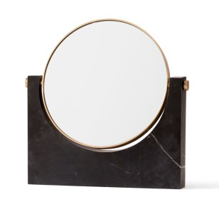 pepe marble mirror brass black side