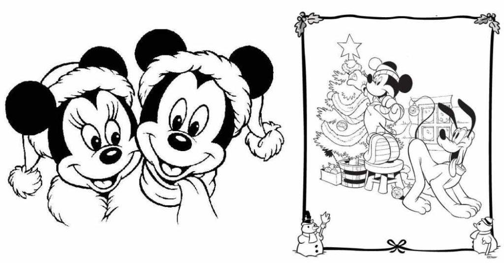 Dibujos De Navidad Para Colorear De Disney Novocom Top