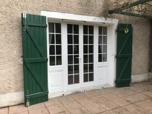 Porte fenêtre quatre vantaux mixte alu