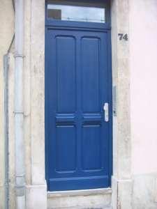 Porte d'entrée bleu