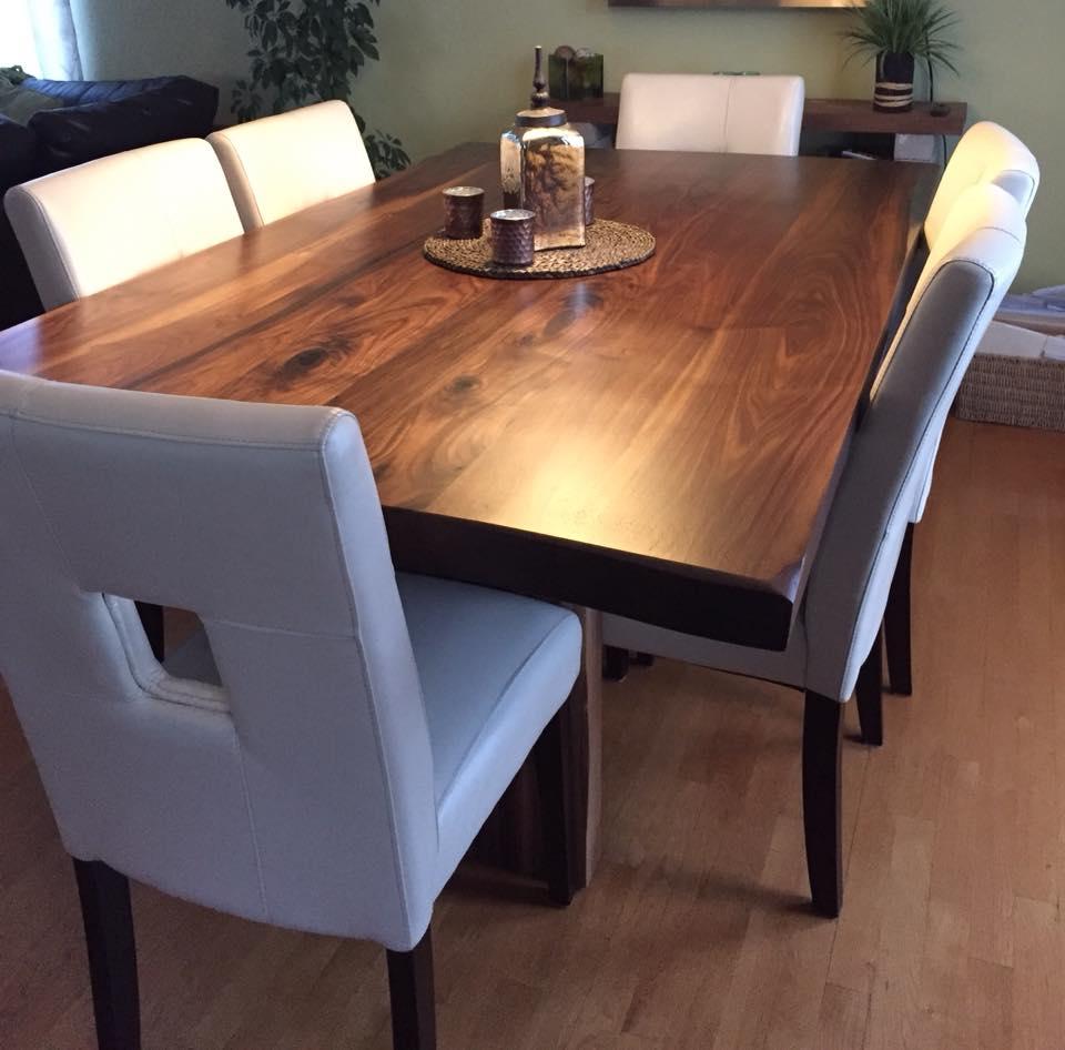 Table En Noyer Massif Menuiserie Dubois