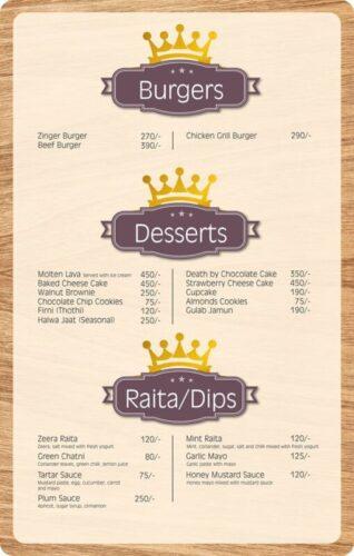 Lord Of Food Lahore Menu Card 7