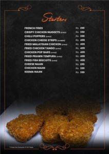 Fusion Grill Complete menu