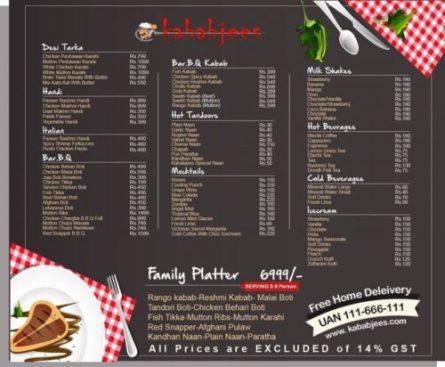 Kababjees Restaurant Do Darya Menu 6