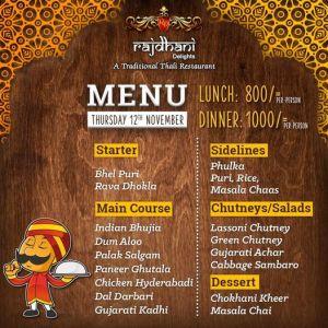 Rajdhani Delights Menu Prices 4
