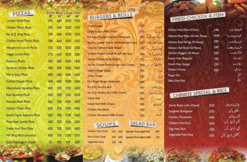 Zafar Hotel Menu Prices