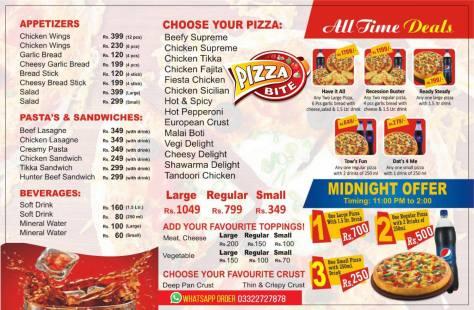 Pizza Bite DHA Menu