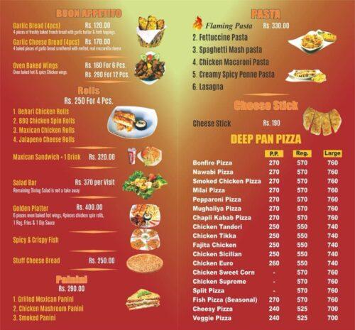 Almaida Menu Prices
