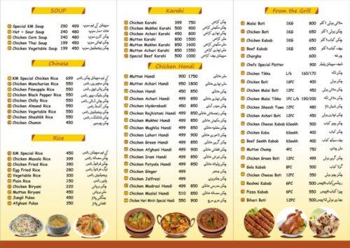 Kitchen Mania Menu Prices 2