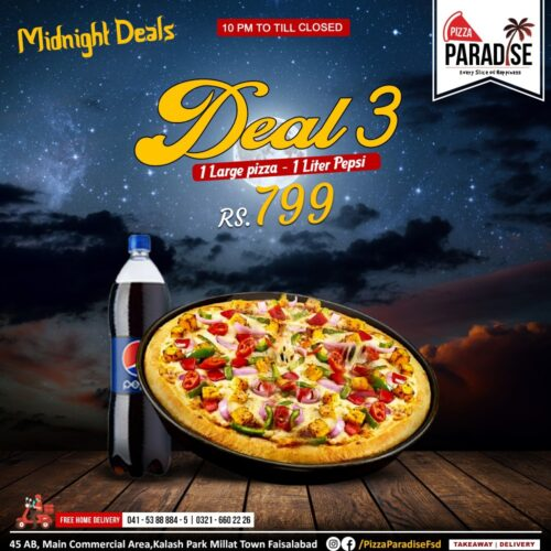 Pizza Paradise Midnight deal