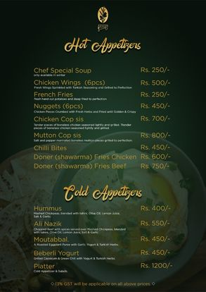 Zeytin Restaurant Menu Prices2