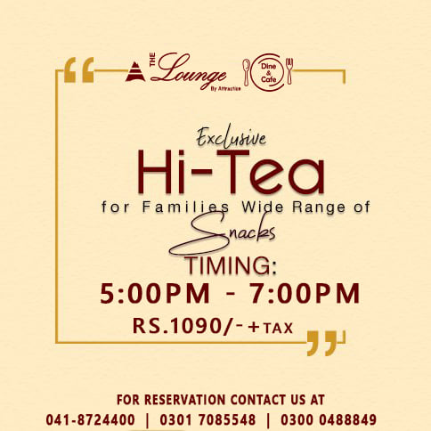 The Lounge By Attraction Hi Tea