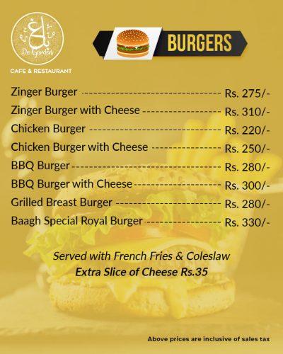 Baagh Cafe And Restaurant Hyderabad Burger