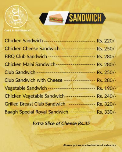 Baagh Cafe And Restaurant Hyderabad Sandwiches