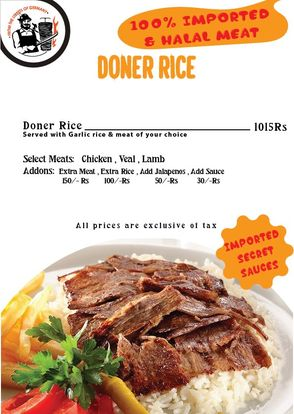 Berlin Doner And Gyro Menu card Prices