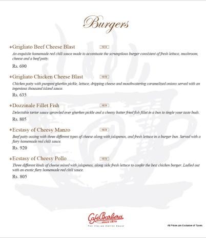 Cafe Barbera Burgers
