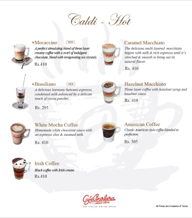 Cafe Barbera Islamabad Coffee