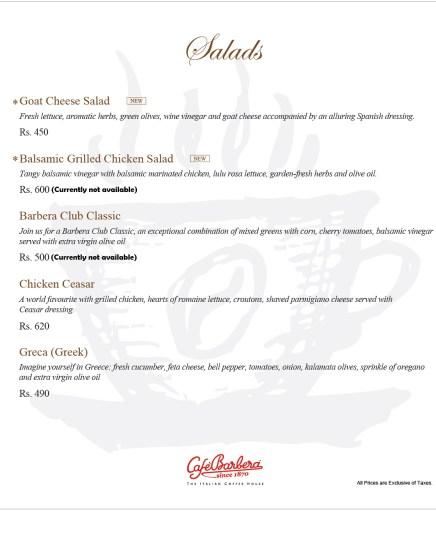 Cafe Barbera Salad