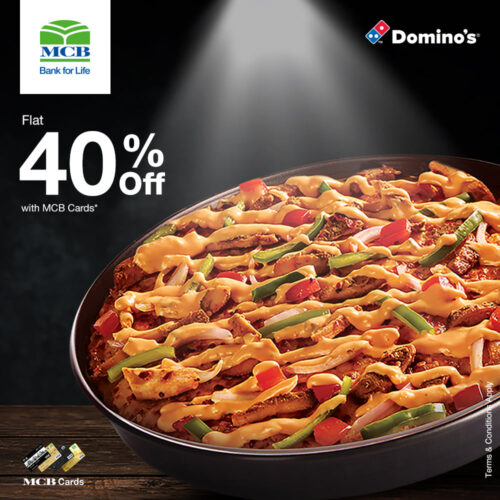 Domino's 40% Off With MCB Cards