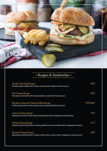 Mindanos Islamabad Burgers and Sandwiches
