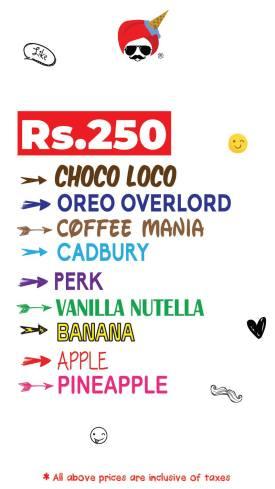 Chaudhry Ice Cream Menu 2