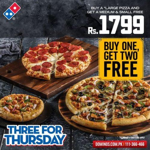 three for thursday deals